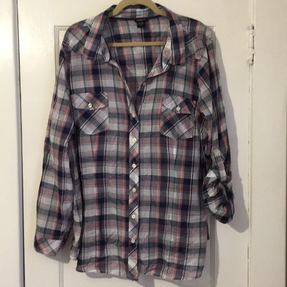 torrid Tops - Torrid 3X Plaid Fall Shirt